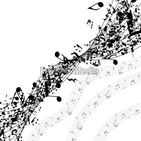 notas musicais seguidas