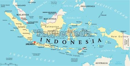 mapa politico da indonesia