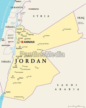 mapa politico da jordania