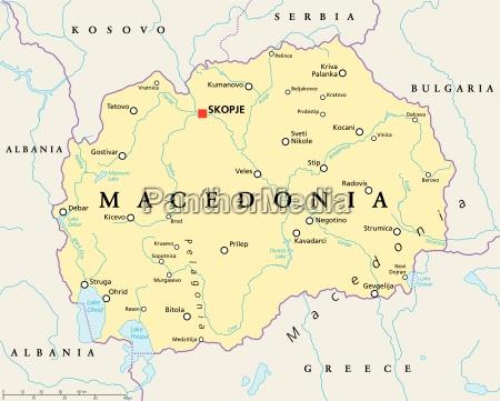 macedonia mapa politico