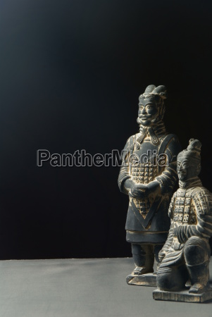 estatua exercito chines guerreiro terracota corante
