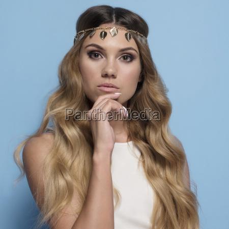 belo agradavel elegante feminino adulto cosmeticos