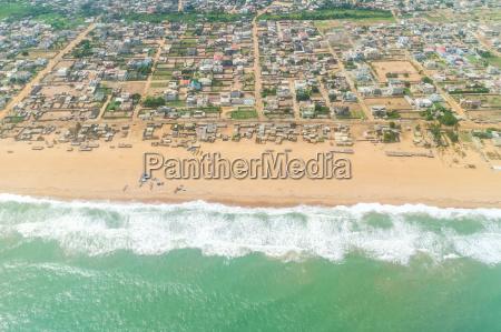 vista aerea das praias de cotonou