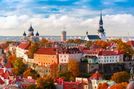 cidade velha da vista aerea tallinn