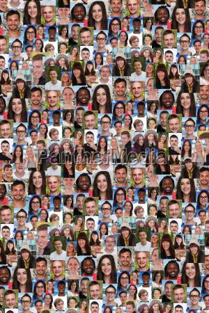 sfondo giovani gruppo di social networking