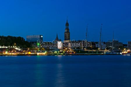azul historico igreja cidade famoso noite