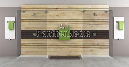 casa de banho moderna com chuveiro