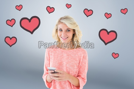 composite image of pretty blonde using
