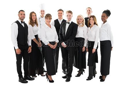 retrato da equipe de funcionarios confiavel