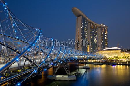 horizonte de singapura cingapura marina bay