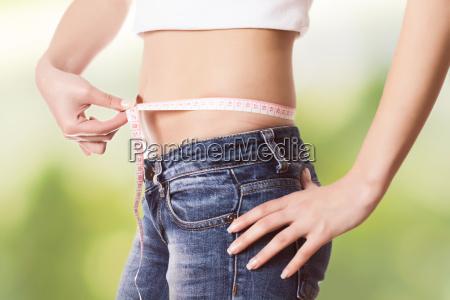 medindo a cintura saudavel magro perfeita