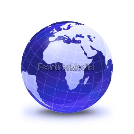 globo da terra estilizado na cor