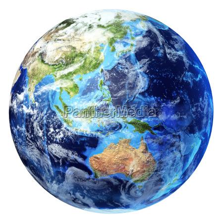 globo terrestre renderizacao 3d realista com