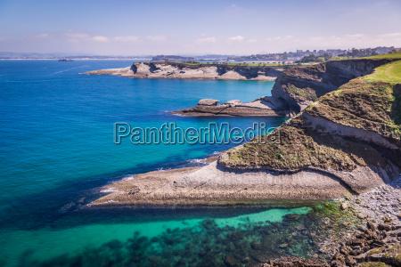 vista panoramica da costa de santander