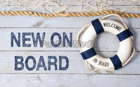 novo a bordo bem vindo