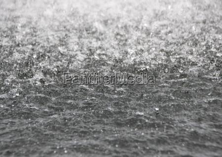 close up da superficie da agua