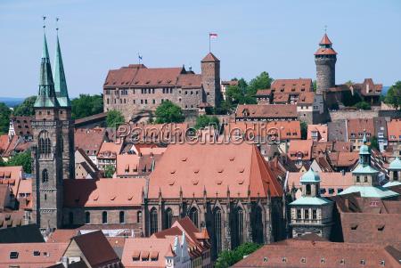 nuremberg nuernberg nuremberg castelo sebalduskirche cidade