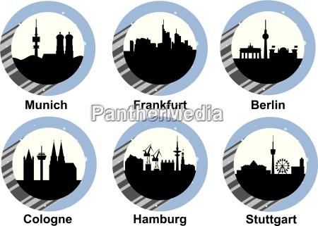 Icone define cidades alemas