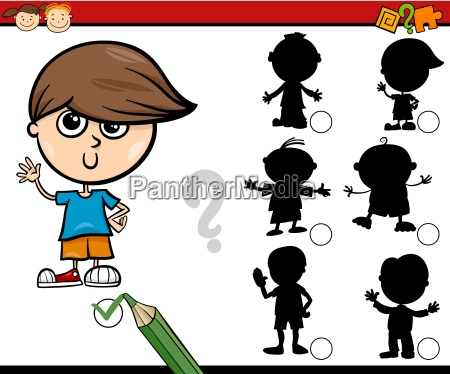 desenhos animados tarefa sombras para criancas