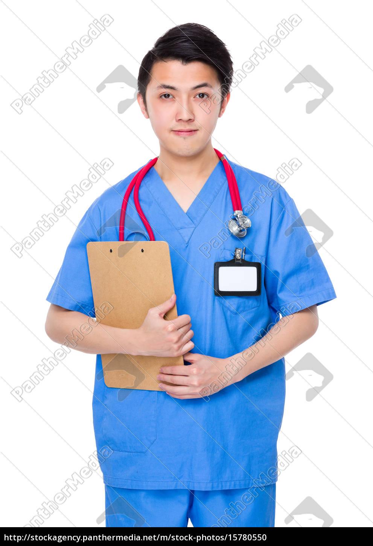macho, doutor, ter, prancheta - 15780550