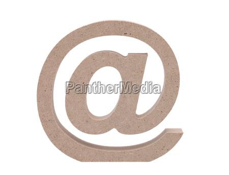 simbolo do email no fundo branco