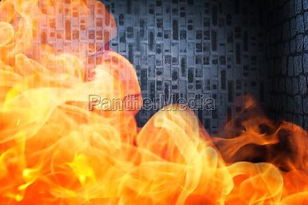 espaco quente parede calor fogo chama