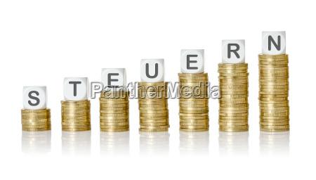 letras moedas pilha controle propriedade impostos