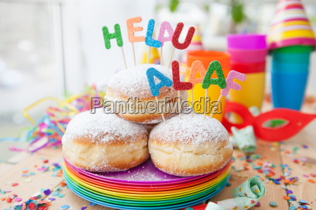 donuts frescos para o carnaval