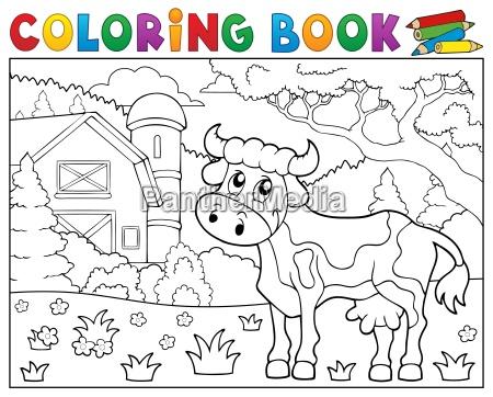 vaca do livro de coloracao perto