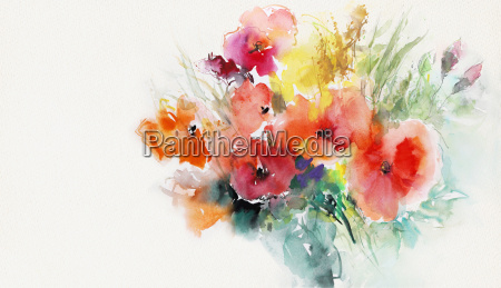 painted poppies paper