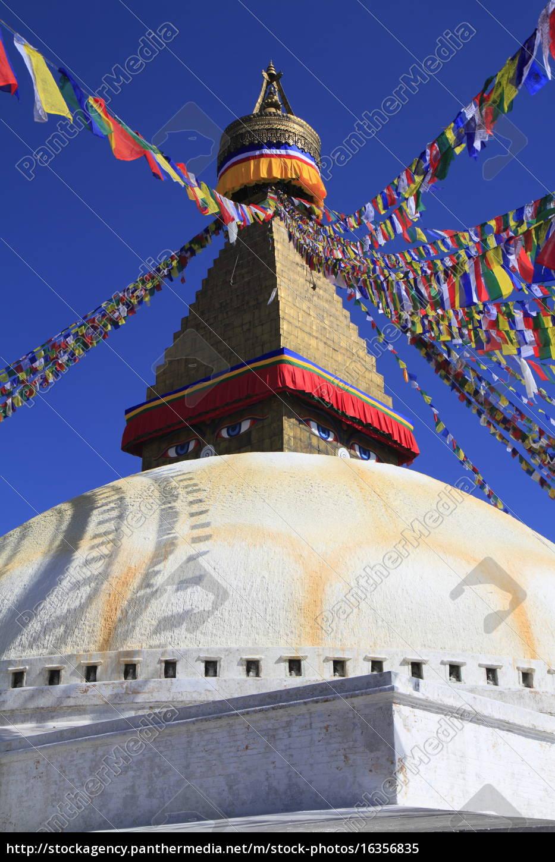 boudhanath, em, katmandu, nepal. - 16356835