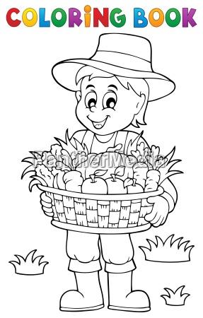 fazendeiro do livro de coloracao com