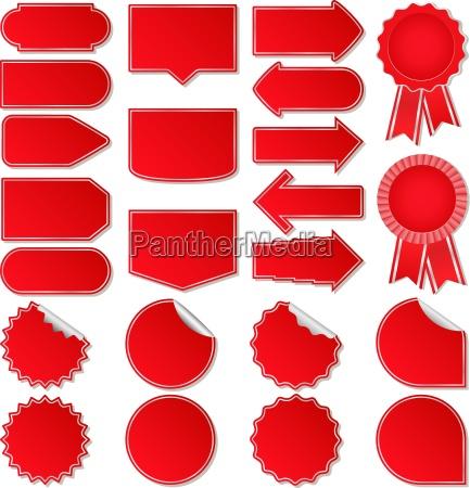 tag de preco vermelhos