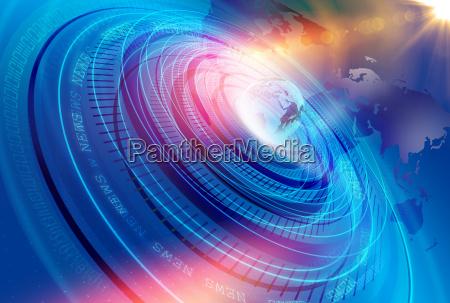 grafico moderno digital world news studio