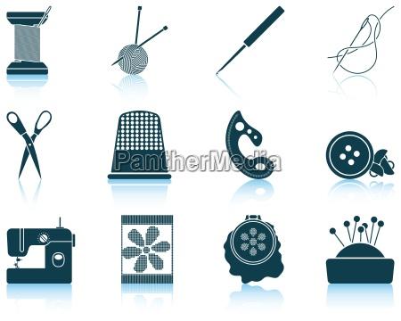 jogo de icones sewing