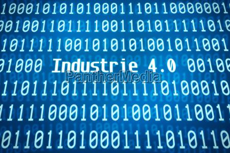codigo binario com a palavra industria