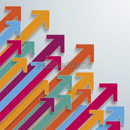 setas coloridas graficos do vetor