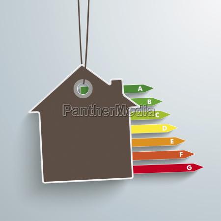 ilustracao do vetor casa e energia