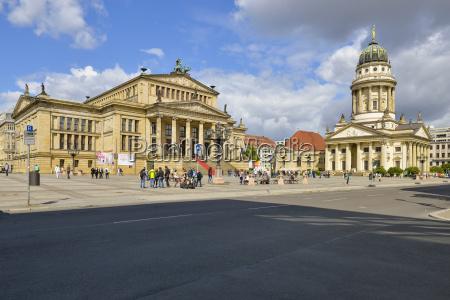germany berlin gendarmenmarkt with concert hall