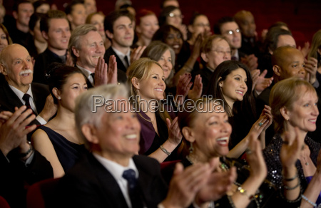 clapping theater audience
