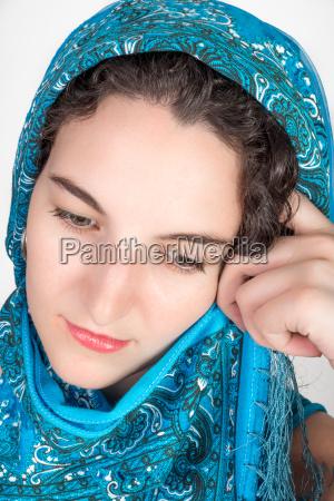 mulher belo agradavel retrato retrato do