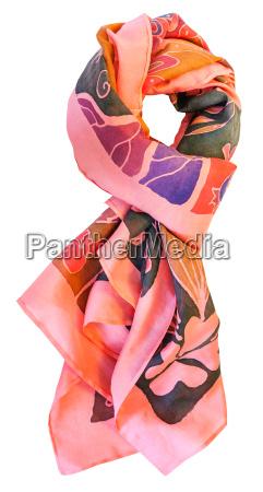 atado batik seda lenco rosa com