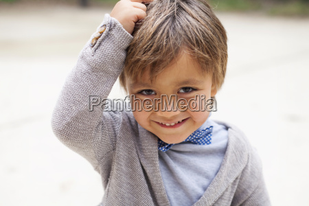 portrait of smiling little boy with