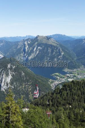 Austria salzkammergut teleferico feuerkogel vista do