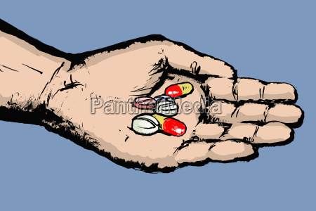 horizontalmente ilustracao proteger horizontal medicina palma