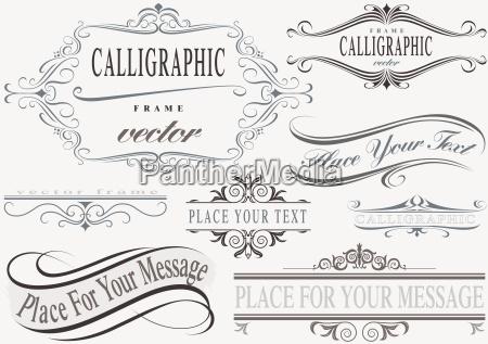 conjunto de quadros caligraficos