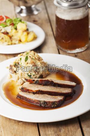 carne de porco bavara do assado