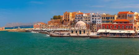 panorama do porto velho chania crete