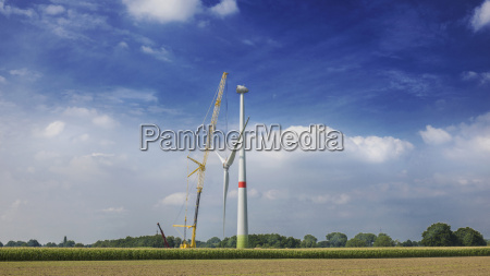 construction of wind turbine alpen wesel