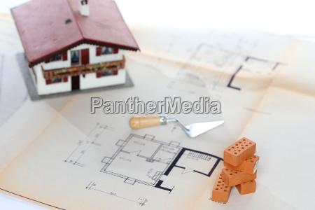 simbolo do planeamento de construcao